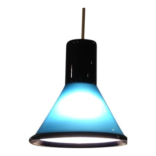 Ocean blue pendant lamp by Holmegaard
