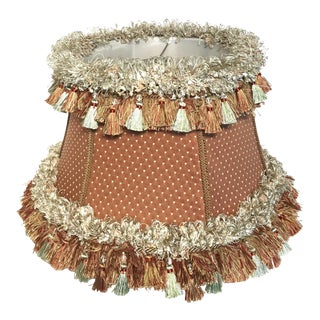 Custom Coral Silk Lampshade