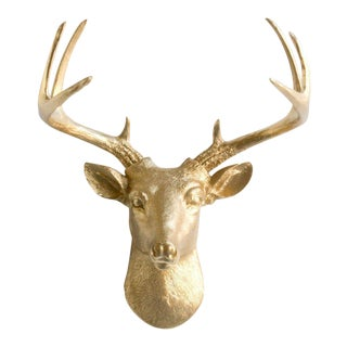 Gold Faux Buck Wall Bust