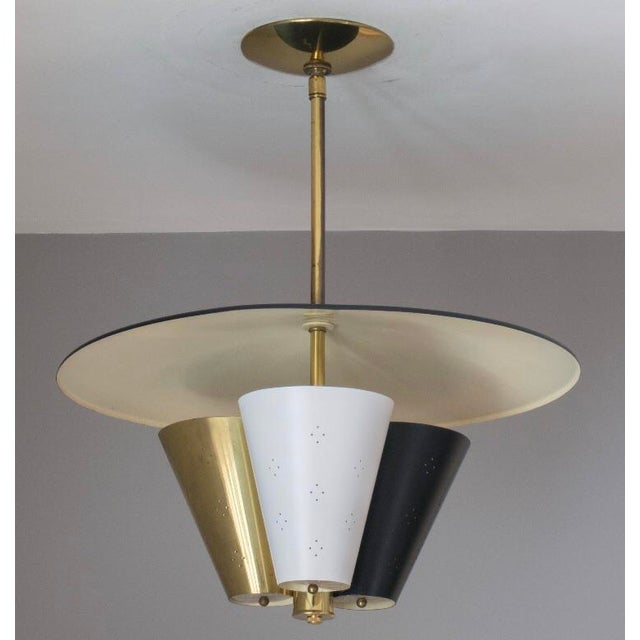 Mid-Century Tricone Reflector Lightolier Fixture - Image 4 of 4