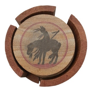 Sandstone Indian Coasters - Set of 4
