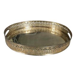 Vintage Solid Brass Tassel Tray