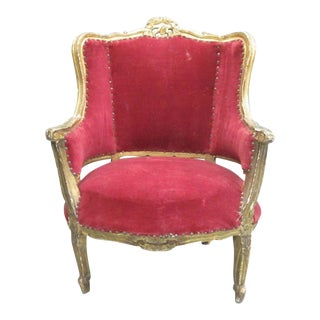 Pair of 1930s Italian Giltwood Throne Chairs