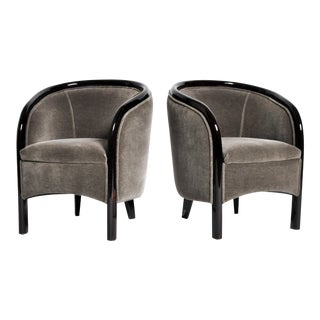 Pair of Small Hungarian Club Chairs