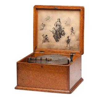 """Antique Regina 11"""" Disc Music Box"""
