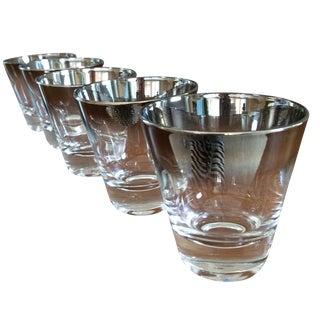 Mid-Century Ombré Silver Shotglasses - Set of 5