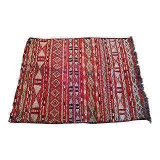 Vintage Hand-Woven Moroccan Tribal Rug - 2′6″ × 3′4″