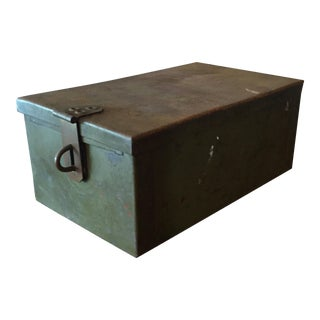 Industrial Green Metal Lock Box