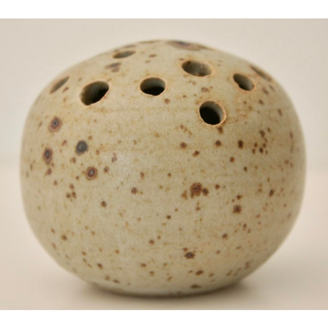 Artisan Pottery Flower Frog or Sculpture - Image 3 of 6