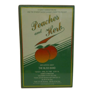 Vintage Peaches & Herb Concert Poster