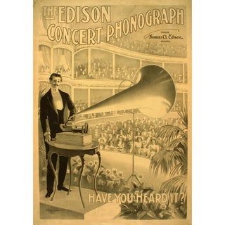Early 1900s Print of Concert Phonograph Advertisement