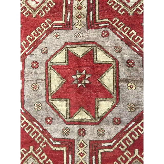 "Vintage Turkish Medallion Runner - 5'x11'6"" - Image 4 of 9"