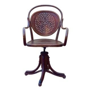 Arts and Crafts Swivel Chair by Josef Kohn, Vienna
