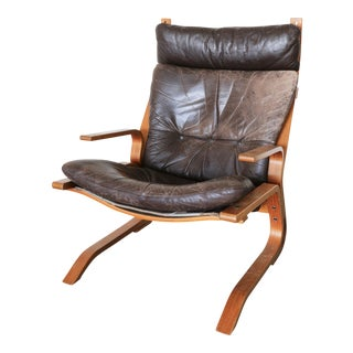 Oddvin Rykken Leather Bentwood Armchair
