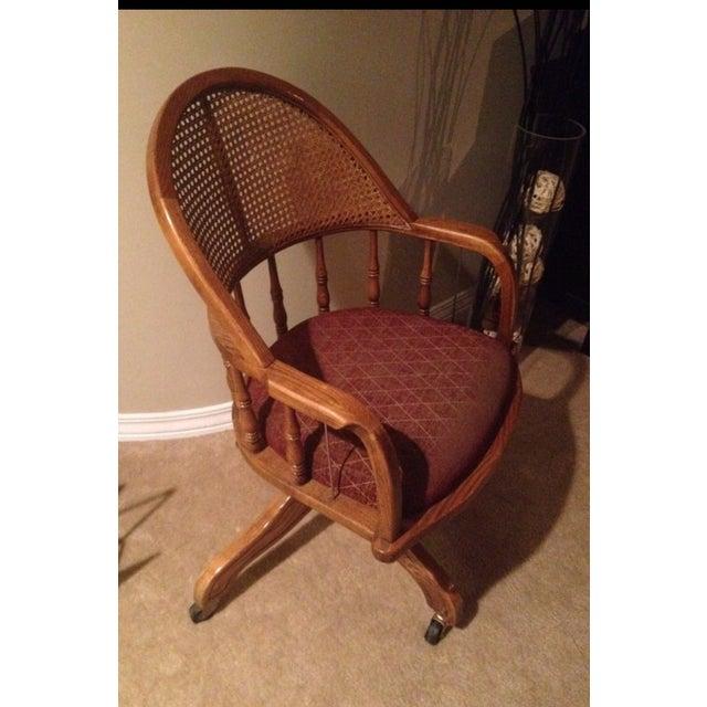 Vintage Cane Lawyers Adjustable Desk Chair - Image 2 of 6