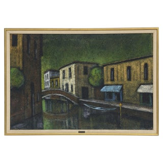 Modernist Venetian Painting Signed Mariotti