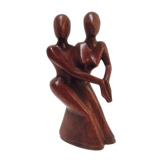 Abstract Wood Sculpture, Lovers Embrace