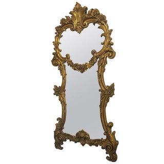 Rococo Style Gilt Gesso & Composotion Mirror