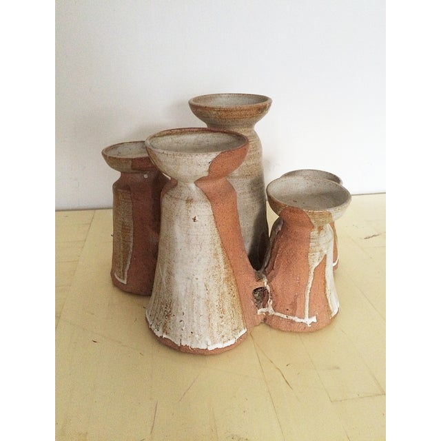 Mid-Century Studio Pottery Candle Holder - Image 3 of 10