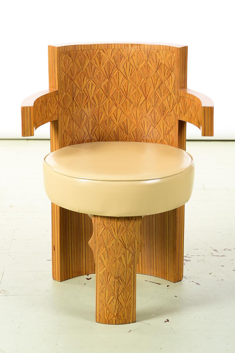 Art Deco Style Beautiful Barrel Chairs   A Pair   Image 3 Of 10