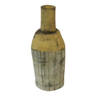 Rob Pulleyn Yellow & Gray Sculptural Vase
