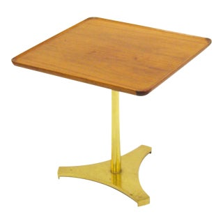 Milo Baughman occasional table with reverse trefoil base