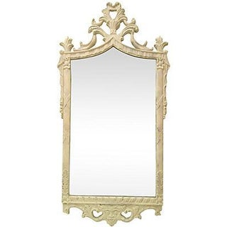 White Scrolled Mirror