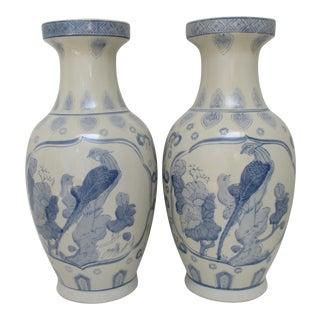 Large Chinese Ceramic Vases - a Pair