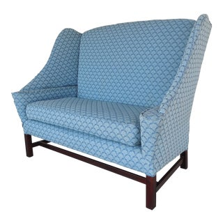 Chippendale Style Hickory Wing Back Settee
