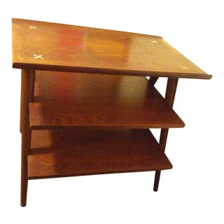 American of Martinsville Walnut Side Table