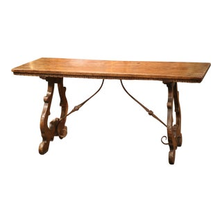 19th Century Spanish Carved Chestnut Table