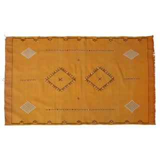Moroccan Yellow Cactus Silk Rug - 6' X 3'8''