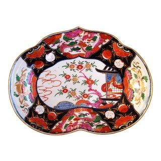 First Period Worcester Porcelain Imari Dish