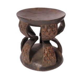 Carved African Wood Stool IV