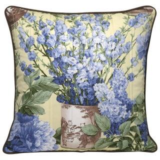Cornflower Blue Spring Florals Pillow