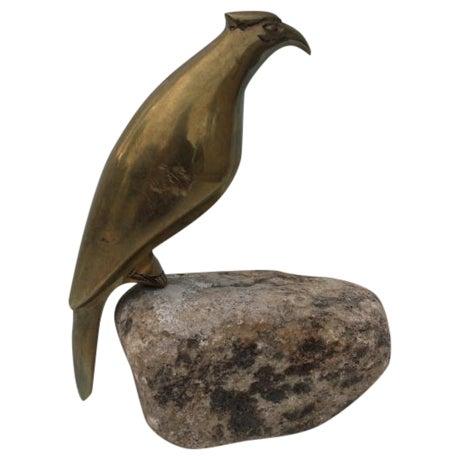 Image of Mid Century Brass Bird Sculpture, Essie Lee