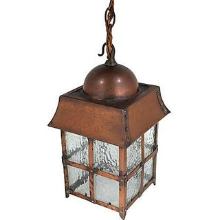 Antique Arts & Crafts Copper Lantern