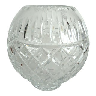 Contemporary Crystal Rose Vase