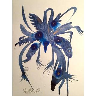 """Indigo Splash"" Original Watercolor Painting"