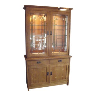 Stickley Mission Oak China Cabinet