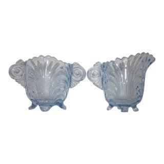 Cambridge Glass Blue Cream Pitcher & Sugar - A Pair