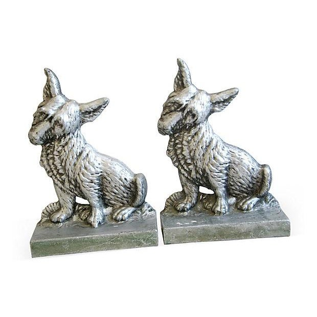 1960s Terrier Dog Bookends- A Pair - Image 1 of 6