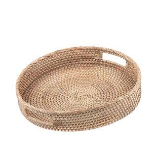 Modern Round Rattan Tray