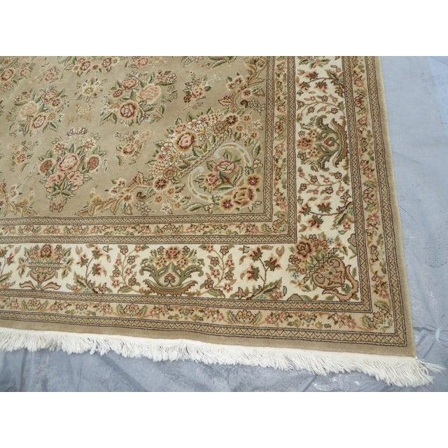 Large Vintage Persian Style Beige Floral Rug - 8'x10' - Image 11 of 11