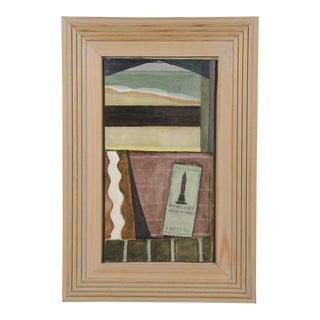 """Green Ticket"" by Helen Napper, an original oil on board dated 1999"