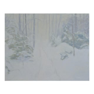 """Stephen Remick """"Path in a Blizzard"""" Painting"""
