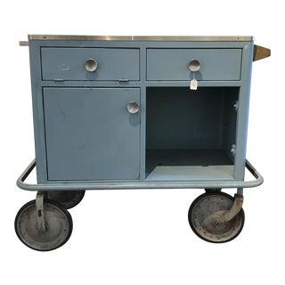 Vintage Industrial Metal Utility Cart