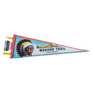 Vintage Mohawk Trail Massachusetts Felt Flag
