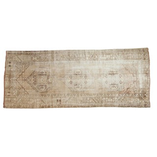 "Vintage Distressed Oushak Rug Runner - 4'11"" x 11'10"""