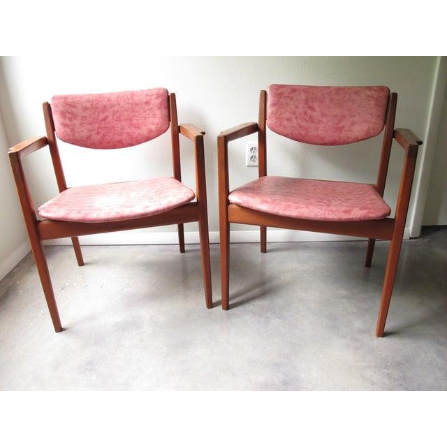 Danish Modern Finn Juhl Teak Armchairs - A Pair - Image 2 of 10